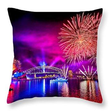 Aussie Celebrations Throw Pillow