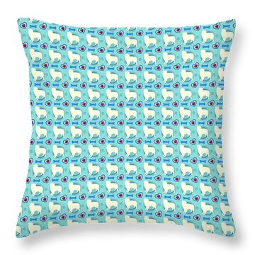 Aussie Dog Pattern Throw Pillow