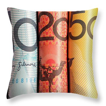 Aussie Dollars 05 Throw Pillow