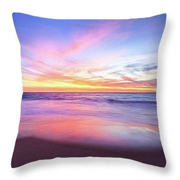 Aussie Sunset, Claytons Beach, Mindarie Throw Pillow by Dave Catley