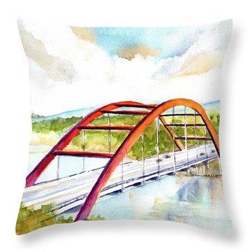Austin 360 Bridge - Pennybacker Throw Pillow