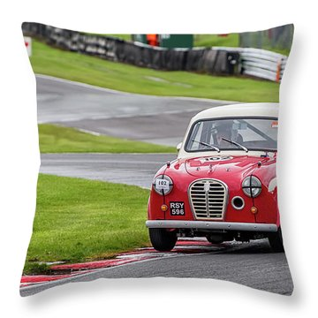 Throw Pillow featuring the photograph Austin A35  by Adrian Evans