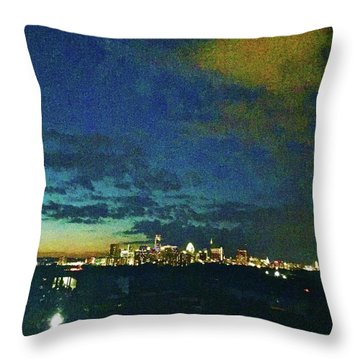 Austin At Dusk Throw Pillow
