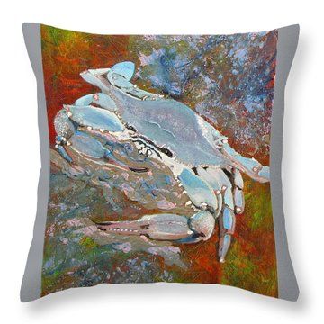Austin Blue Crab Throw Pillow