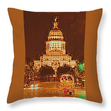 Austin Capitol At Night Throw Pillow