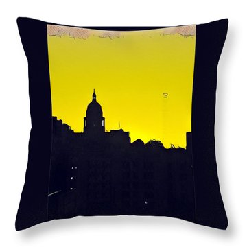 Austin Capital At Sunrise Throw Pillow