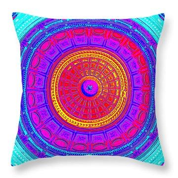 Austin Capitol Dome - 4 Throw Pillow