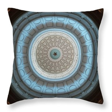 Austin Dome In Gray/blue Throw Pillow