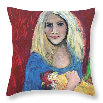 Austin Girl Throw Pillow