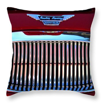 Austin Healey Grille Throw Pillow