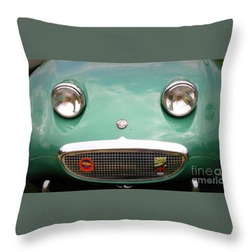 Austin Healey Sprite Throw Pillow