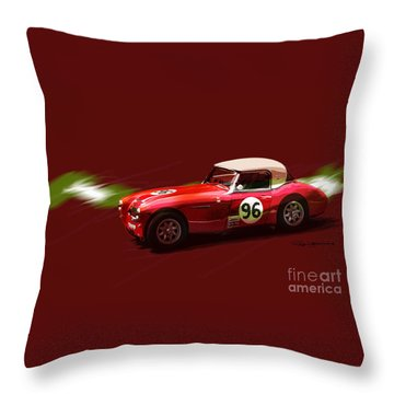 Austin Healy 3000 Throw Pillow