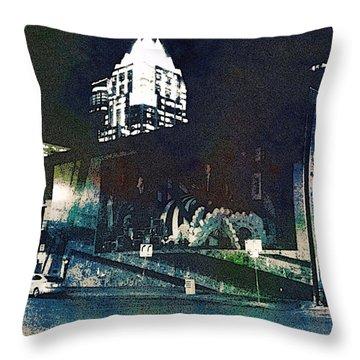 Austin Night Throw Pillow