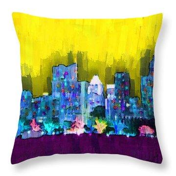 Austin Skyline 151 - Da Throw Pillow