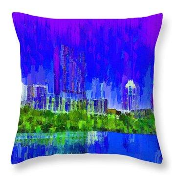 Austin Skyline 313 - Pa Throw Pillow