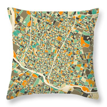 Austin Map Throw Pillow by Jazzberry Blue