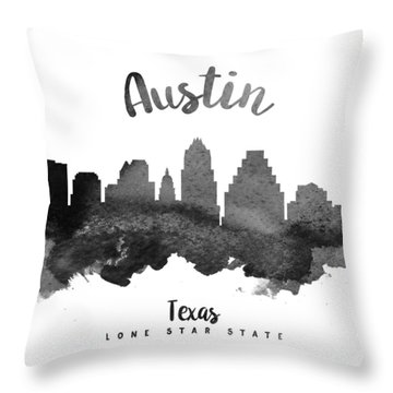Austin Texas Skyline 18 Throw Pillow by Aged Pixel