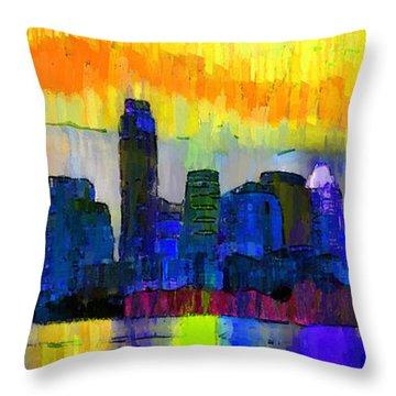 Austin Texas Skyline 202 - Pa Throw Pillow