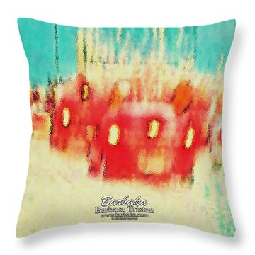 Throw Pillow featuring the photograph Austin Traffic by Barbara Tristan