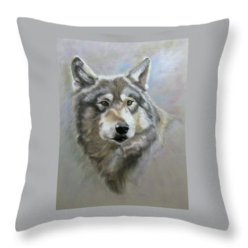 Austin's Wolf Throw Pillow