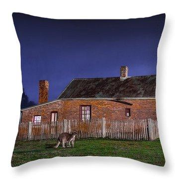 Australia By Night Throw Pillow