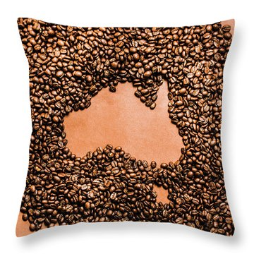 Australia Cafe Artwork Throw Pillow