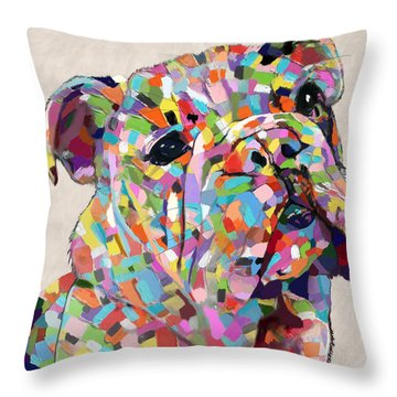 Australian Bulldog  Throw Pillow