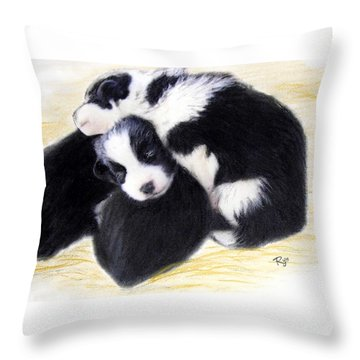 Australian Cattle Dog Puppies Throw Pillow