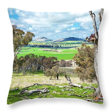 Australian Countryside Throw Pillow