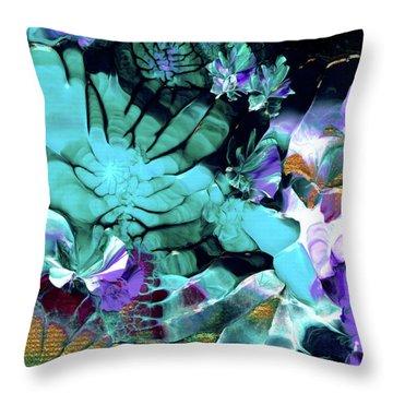 Australian Emerald Begonias Throw Pillow
