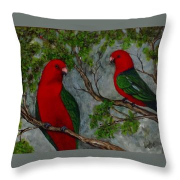 Australian King Parrot Throw Pillow