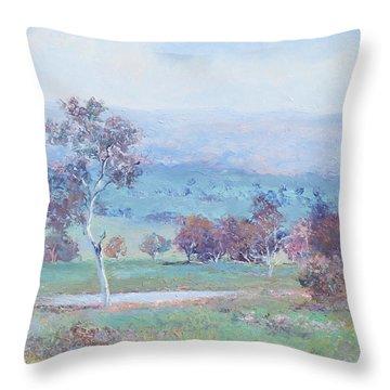 Australian Landscape Throw Pillow