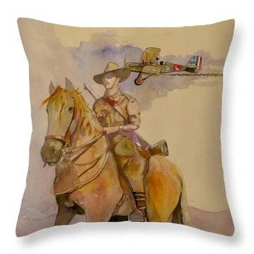 Australian Light Horse Regiment. Throw Pillow