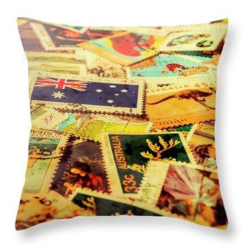 Australian Postal Background Throw Pillow
