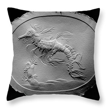 Australian Reef Sea Horse Throw Pillow