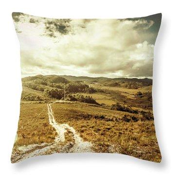 Australian Rural Panoramic Landscape Throw Pillow