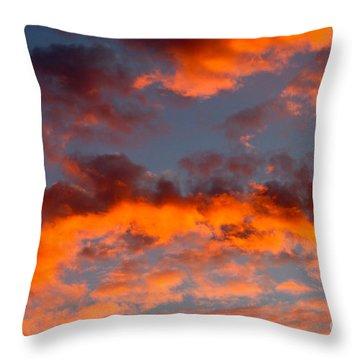 Australian Sunset Throw Pillow by Louise Heusinkveld