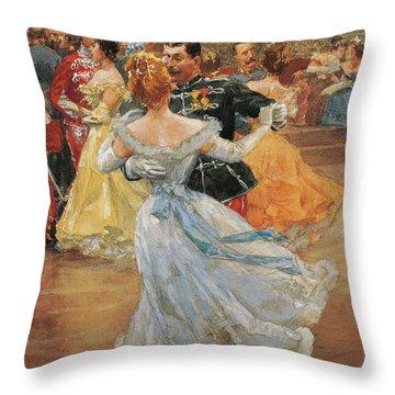Austria, Vienna, Emperor Franz Joseph I Of Austria At The Annual Viennese Ball  Throw Pillow