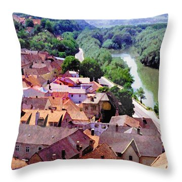 Austria Views 2 Throw Pillow