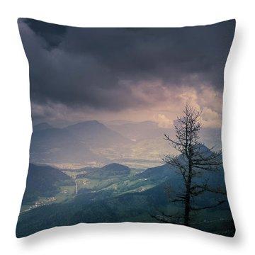 Austrian Alps Throw Pillow