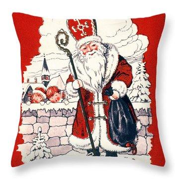 Austrian Christmas Card Throw Pillow by Granger