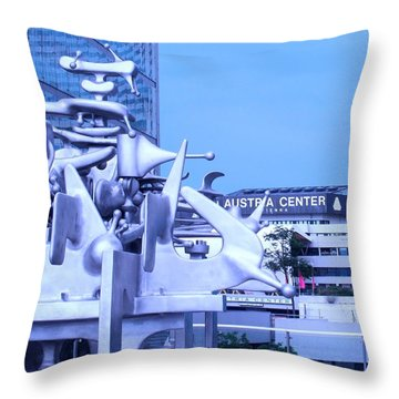 Austrian Sculpture Throw Pillow by Ian  MacDonald
