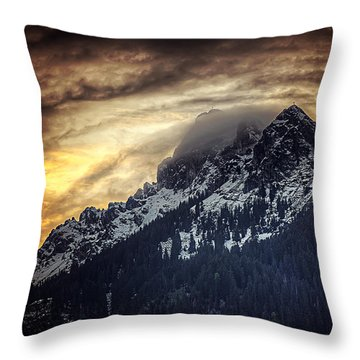 Austrian Sunset Throw Pillow