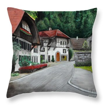 Austrian Village Throw Pillow