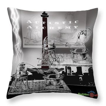 Autistic Alchemy Throw Pillow
