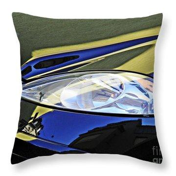 Auto Headlight 189 Throw Pillow by Sarah Loft