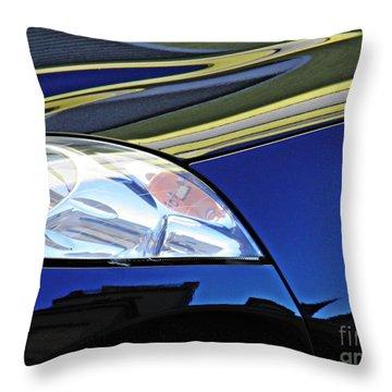 Auto Headlight 190 Throw Pillow by Sarah Loft