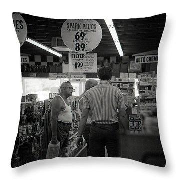 Auto-parts Store, 1972 Throw Pillow