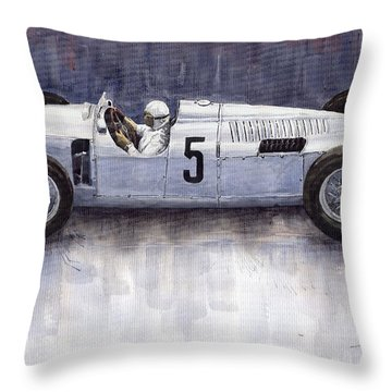 Auto Union 1936 Type C Throw Pillow