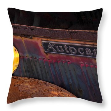 Autocar Trucks Throw Pillow by Tom Singleton